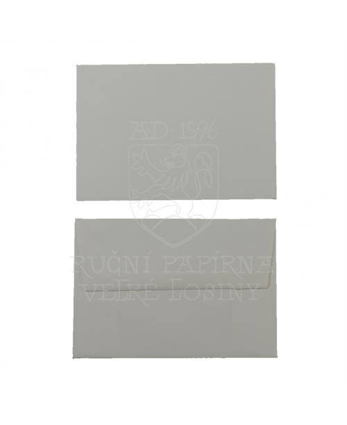 Obálka z ručního papíru 90 x 130 mm