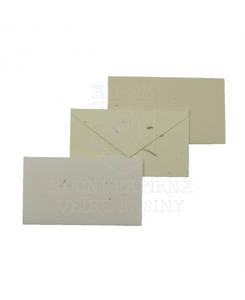 Obálka z ručního papíru tráva 60 x 105 mm