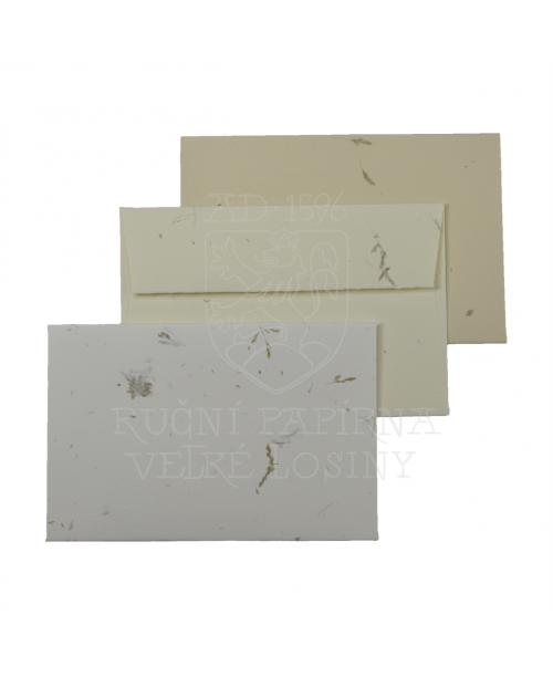 Obálka z ručního papíru tráva 110 x 160 mm