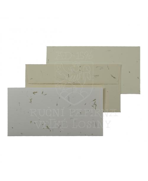 Obálka z ručního papíru tráva 110 x 220 mm
